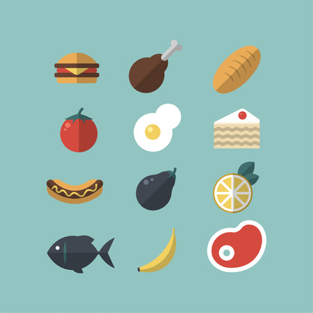 Set of food icons. Illustration