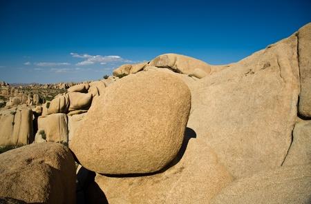scenic Jumbo rock in Joshua Tree National Park photo