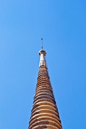 pinnacle: pinnacolo del tempio nella zona Tempio Wat Phra Si Sanphet, palazzo reale di Ajutthaya