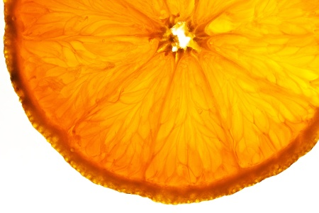 sliced orange fruits in cocktail glass in detail photo