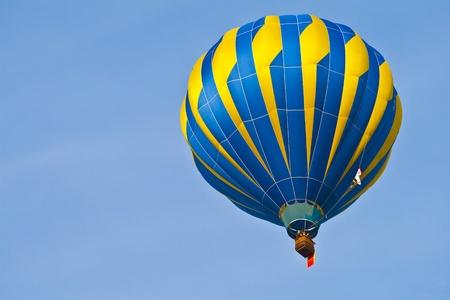 aeronautical: Hot Air Balloon with blue sky