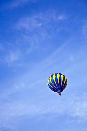 aeronautical: Hot Air Balloon in cloudy sky