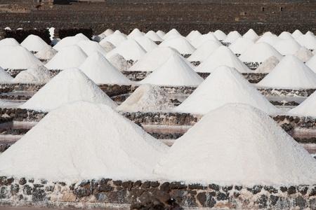lanzarote: Zout wordt geproduceerd in de oude historische saline in Janubio, Lanzarote