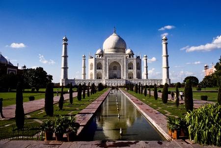 hinduismo: Taj Mahal en Agra, la India, Uttar Pradesh de m�rmol blanco