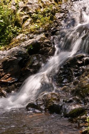 beautiful natural waterfall in National Park photo