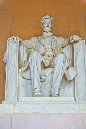 Statue of Abraham Lincoln at the Lincoln Memorial, Washington DC Stock Photo - 9209520