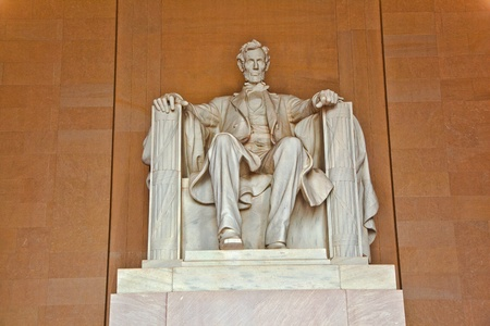 Statue of Abraham Lincoln at the Lincoln Memorial, Washington DC Stock Photo - 9209576