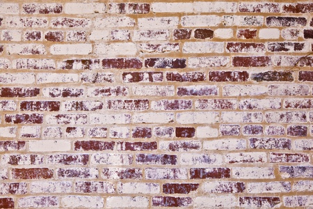 old brick walls of historic houses in typical structure photo