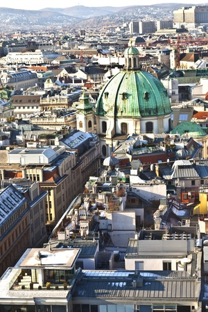 view over Vienna in snow with clear sky Stock Photo - 9210373