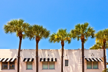beautiful historic buildings in South Miami in the Art deco district Stock Photo - 9223761