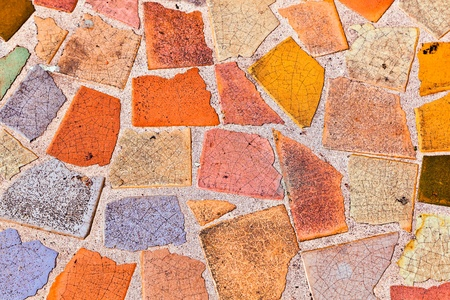 mosaik with floor tiles gives a beautiful colorful pattern Stock Photo - 9218848