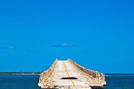 De oude spoorbrug over de Bahia Honda Key in de Florida Keys