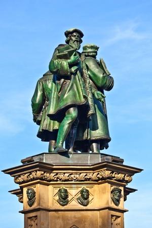 johannes: statue of Johannes Gutenberg,  in Frankfurt, inventor of book printing