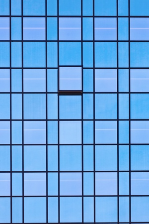 skyscraper sky: windows of office buildings, cool business background