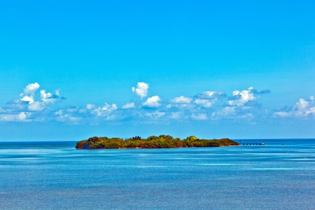 beautiful island in the Florida keys with lighthouse photo