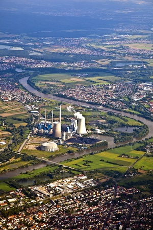 biblis: nuclear power plant Stock Photo