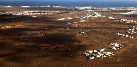 aerial of Lanzarote, the volcanic Island of the canaries photo
