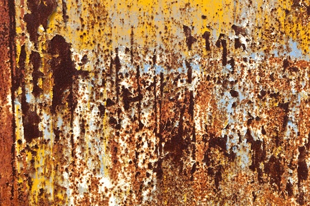 rusty grunge metal background of an old watertank Stock Photo - 9219835