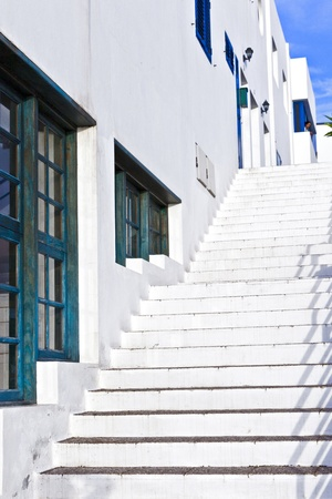 stairs downtown in the old part of Playa Blanca Stock Photo - 9264286