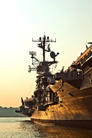 aircraft carrier as museum in New York photo