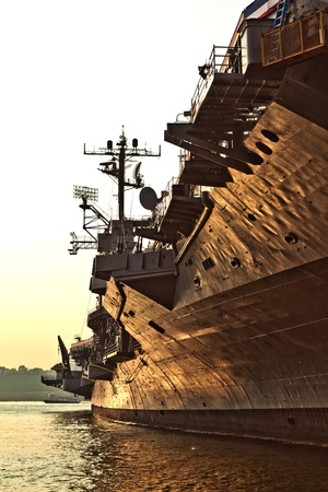 aircraft carrier as museum in New York Stock Photo - 9269617