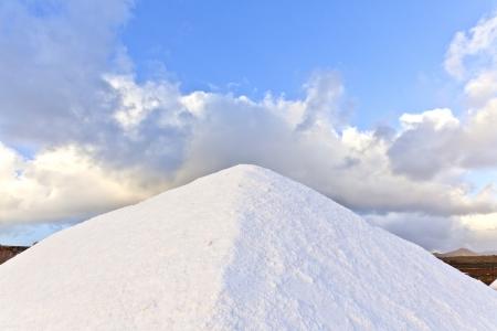 salt water: Salt refinery, Saline from Janubio, Lanzarote, Spain