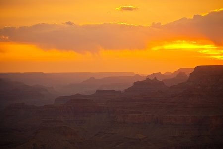 beautiful sunset at desert view point in the Great Canyon photo