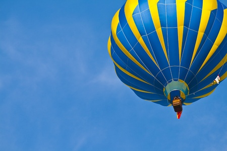 air baloon: Hot Air Balloon with blue sky