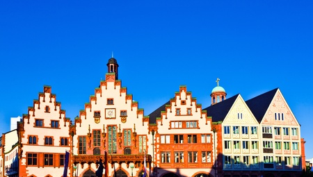 roemerberg: famous Roemerberg in Frankfurt, the former historic city center Stock Photo