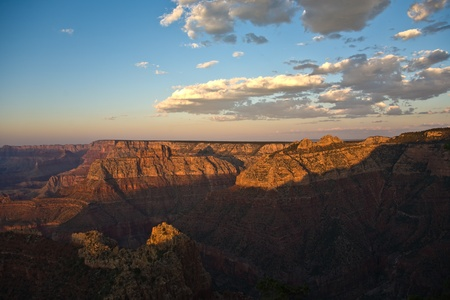colorful Sunset at Grand Canyon seen from Mathers Point, South Rim photo