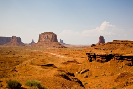 John Fords Place is a great place in Munument valley with view to giant sandstone formation photo
