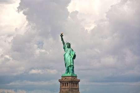 Statue of Liberty in New York City Manhattan Hudson River Stock Photo - 9292971