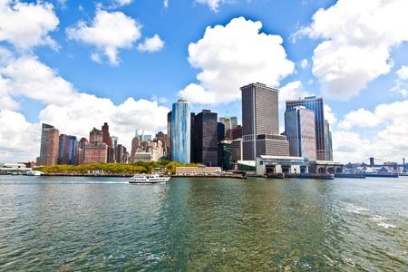 New York City panorama with Manhattan Skyline over Hudson River