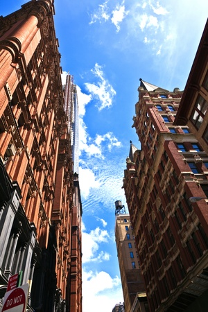 beautiful Green Street in Manhattan with old houses, New York Stock Photo - 9298881