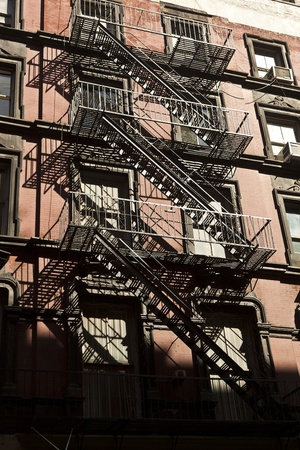 fire escape at an old downtow house photo