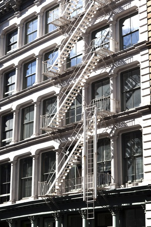 fire escape at an old downtow house Stock Photo - 9298607