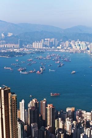 asien: Hong Kong city view from Victoria peak