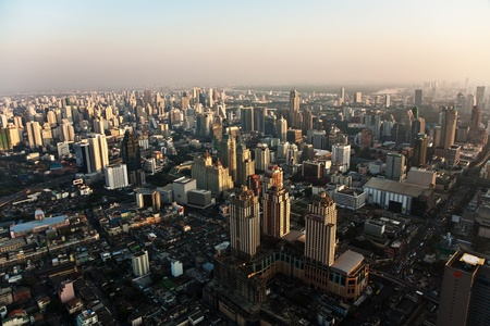 View across Bangkok skyline showing office blocks and condominiums Stock Photo - 9300709