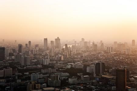 View across Bangkok skyline showing in sunset Reklamní fotografie