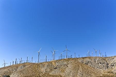 big wind turbines in America photo