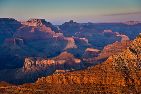 fantastic view: fantastic view into the grand canyon from mathers point, south rim
