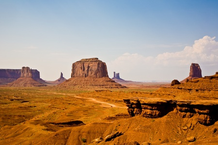 rock formations: John Fords Place is a great place in Munument valley with view to giant sandstone formation