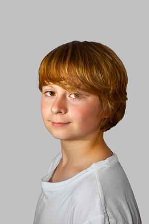 portrait of cute boy photo