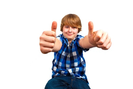 portrait of cute young happy teenager photo