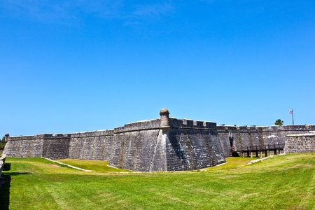 augustine: Castillo de San Marco - ancient fort in st. augustine florida Stock Photo