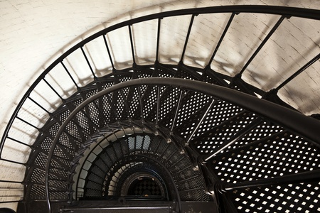 beautiful iros stairs in lighthouse from Sankt Augustine in Florida Stock Photo - 9324902