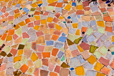 mosaic with floor tiles gives a beautiful colorful pattern Stock Photo - 9327016