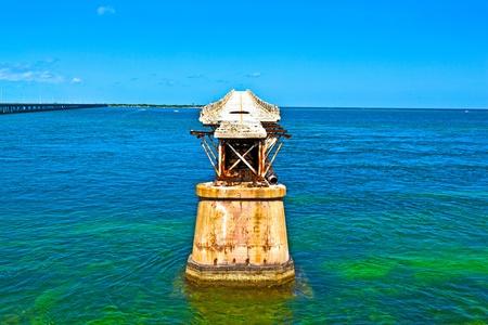 honda: The old Railroad Bridge on the Bahia Honda Key in the Florida keys Stock Photo