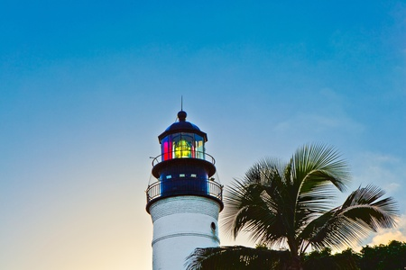 key west: beautiful lighthouse from Key West in Florida Stock Photo
