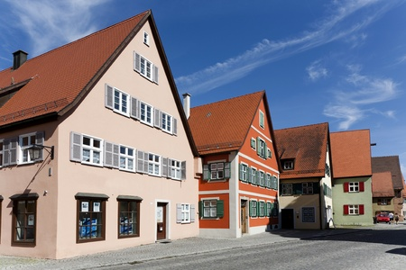 middleages: romantic Dinkelsbühl, city of late middleages and timbered houses